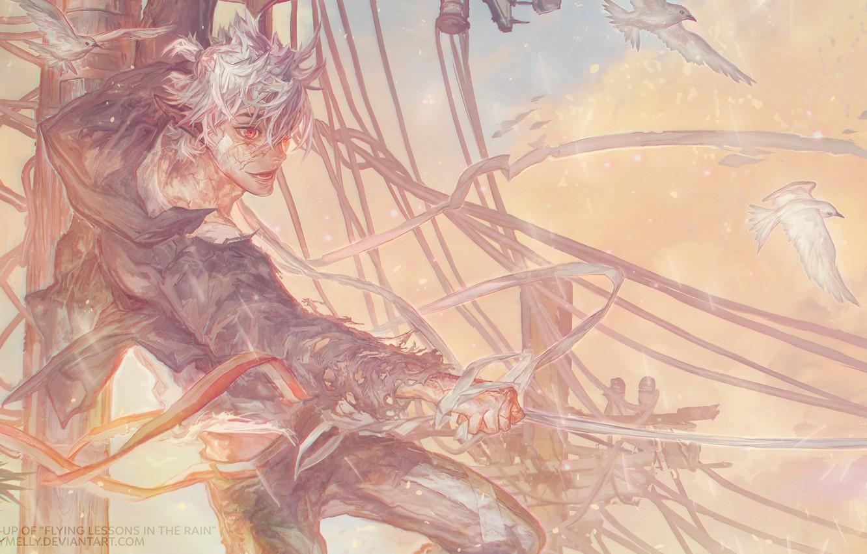 Photo wallpaper anime, art, guy