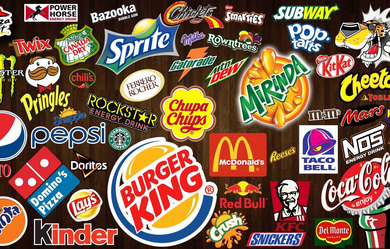 Photo wallpaper logo, emblem, firm, brand