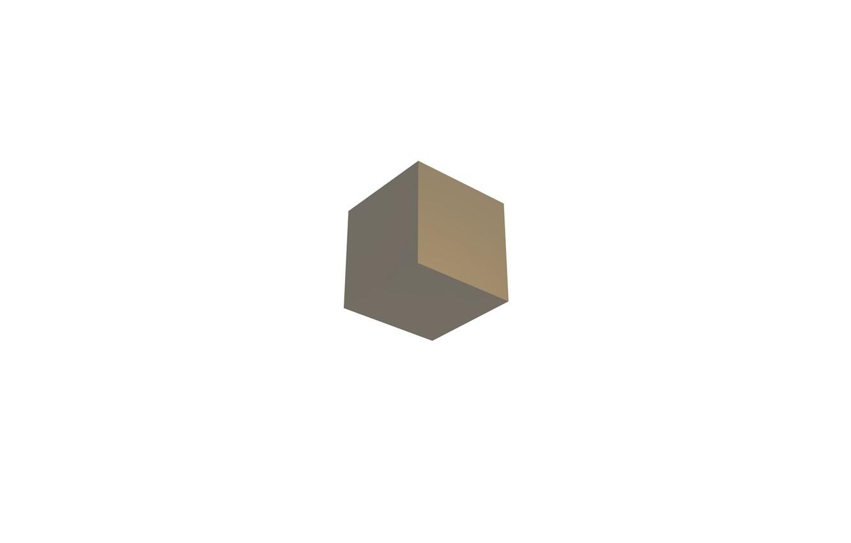 Photo wallpaper white, bright, yellow, minimalism, white background, cube, top, minimalism, cub, abstractia