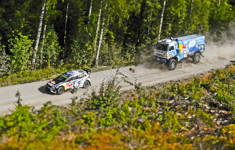 Photo wallpaper Sport, Race, Master, Rally, KAMAZ, Polo, VolksWagen