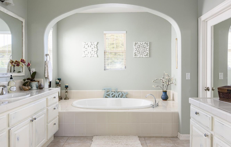Photo wallpaper design, bathroom, plumbing