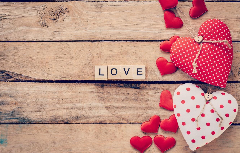 Photo wallpaper holiday, the inscription, hearts, love, Valentine's day
