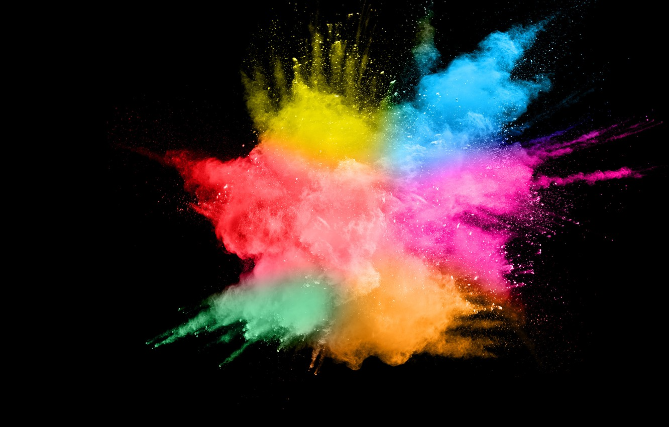 Photo wallpaper squirt, background, paint, black, colors, colorful, abstract, splash