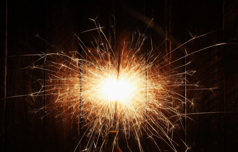 Photo wallpaper background, sparks, light, Sparkler