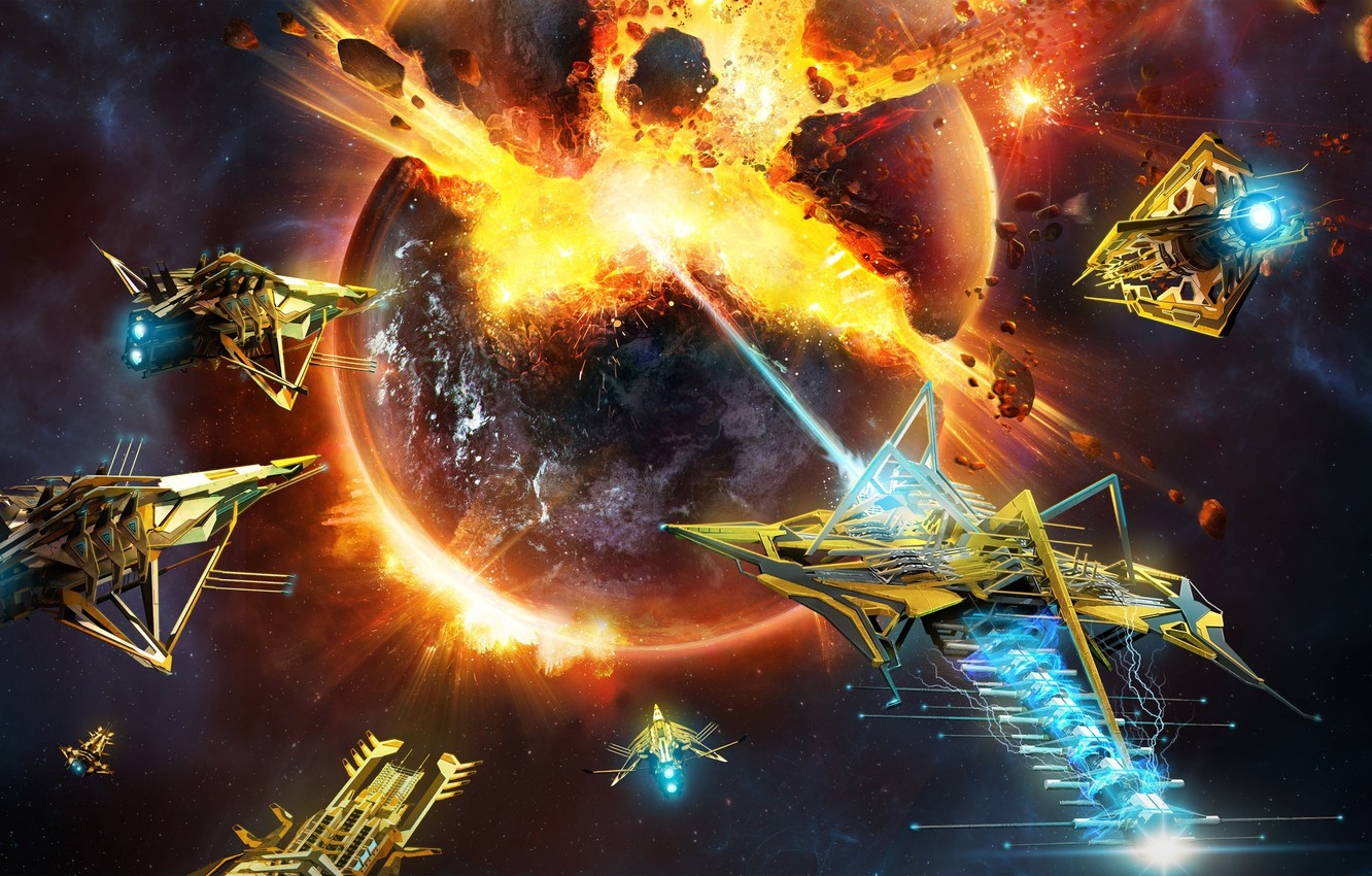 Wallpaper Space Explosion Fire Flame Game War Microsoft