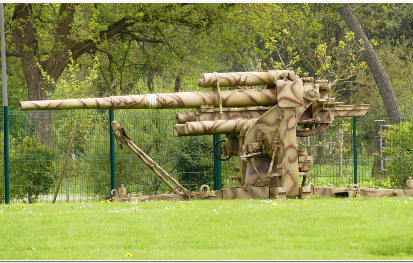 Photo wallpaper gun, normandy, ww2. war