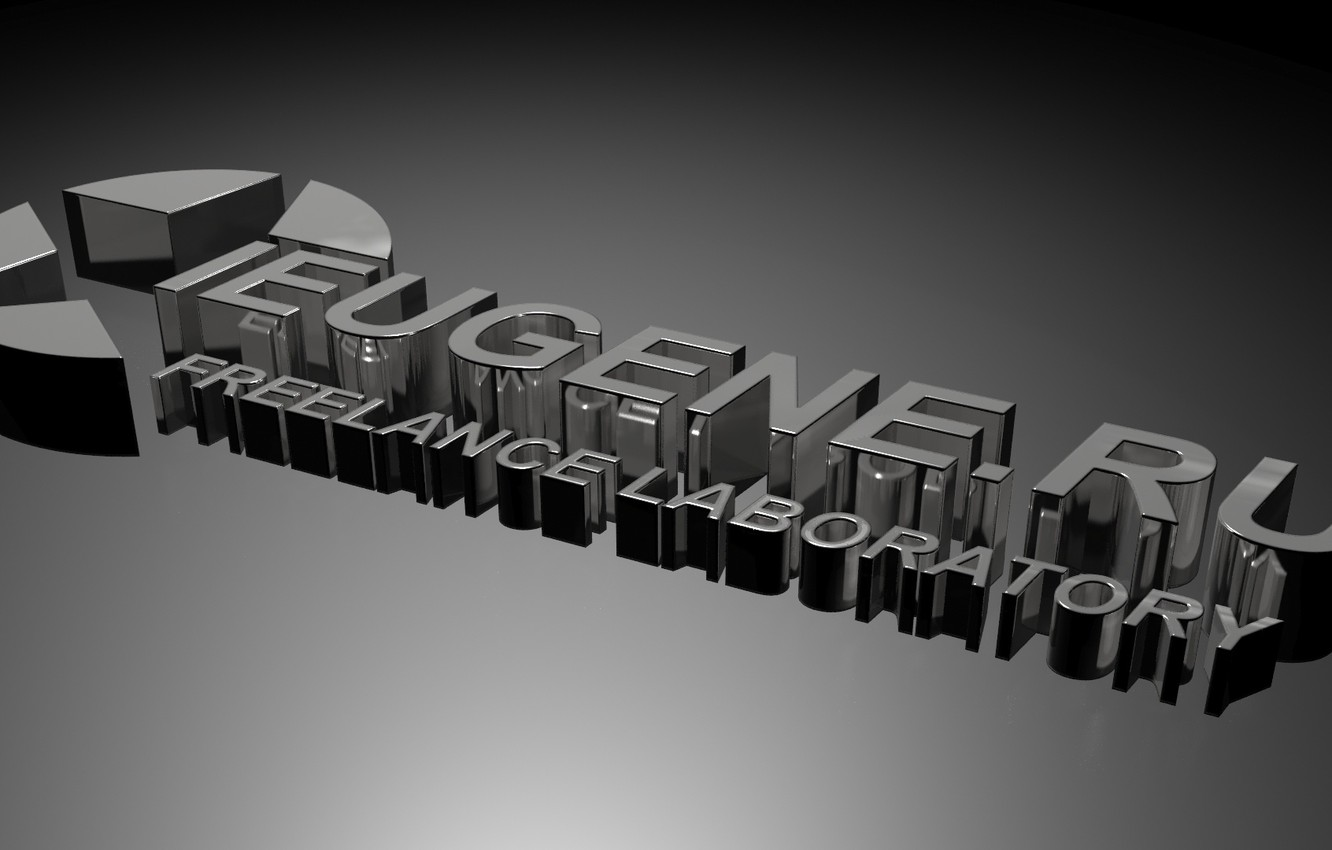 Photo wallpaper rendering, simple, logo