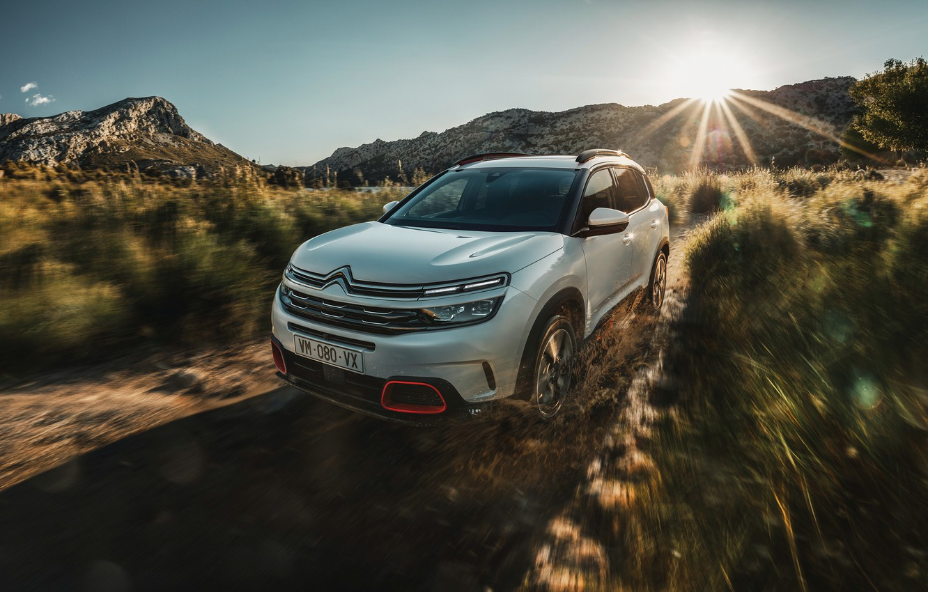 Photo wallpaper the sun, 2018, crossover, Aircross, Citroen C5