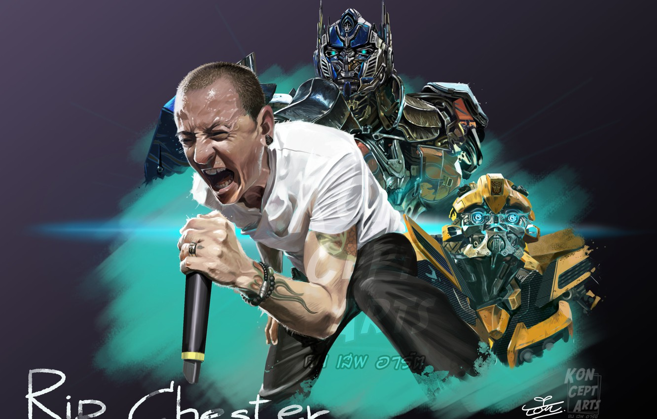 Wallpaper Music The Film Art Transformers Linkin Park Chester