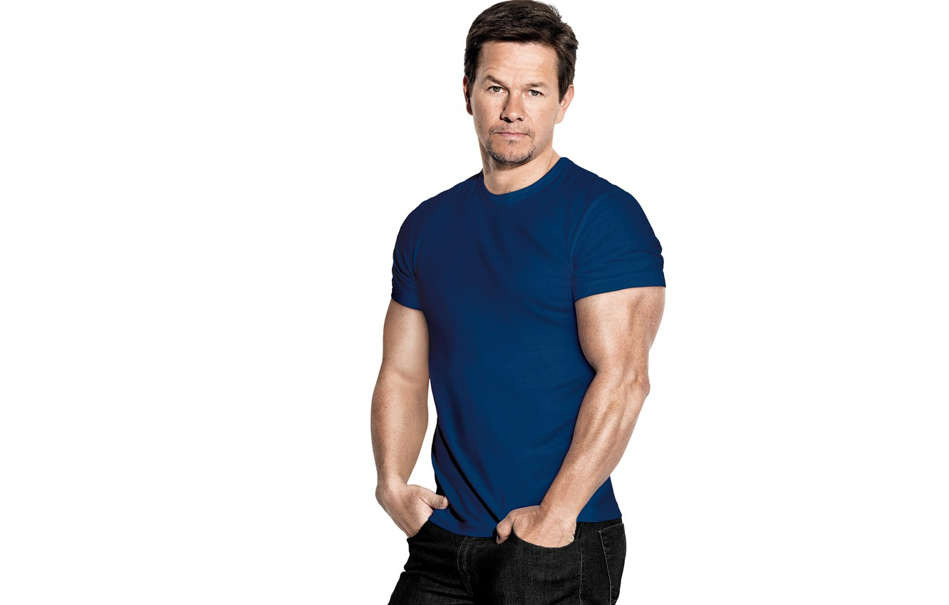 Photo wallpaper pose, jeans, t-shirt, actor, muscle, Mark Wahlberg, Mark Wahlberg