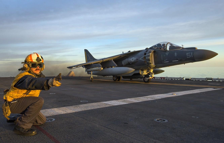 Photo wallpaper death, weapons, army, Libya, AV-8B Harrier, Operation Odyssey Lightning, amphibious assault ship USS Wasp (LHD …