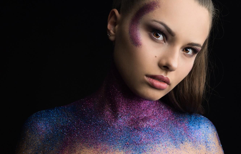 Photo wallpaper look, face, model, makeup