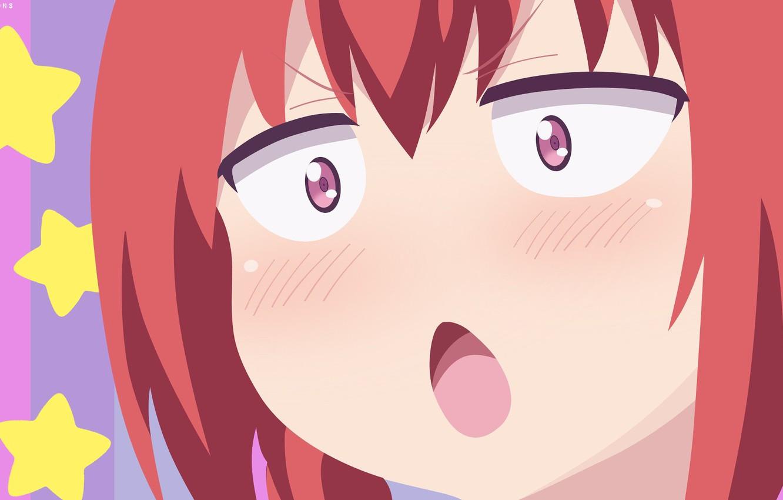 Photo wallpaper demon, red, girl, star, devil, red hair, anime, face, redhead, bishojo, akuma, Gabriel DropOut, Kurumizawa …