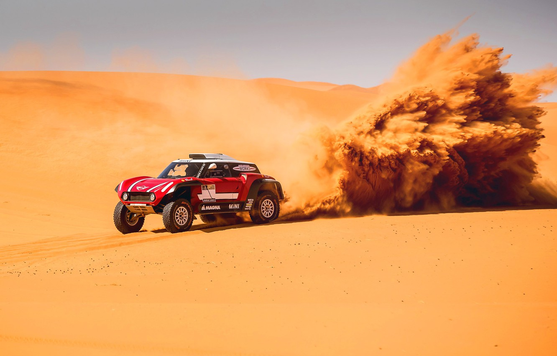 Photo wallpaper Sand, Mini, Sport, Desert, Machine, Speed, Rally, Dakar, Dakar, Rally, Dune, Buggy, Buggy, X-Raid Team, …
