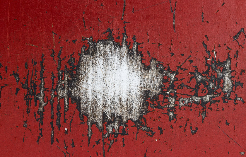 Photo wallpaper Paint, RED, Scratch, Metall