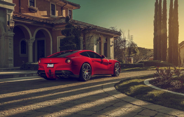 Photo wallpaper Ferrari, Berlinetta, F12, Luxury, Wheels