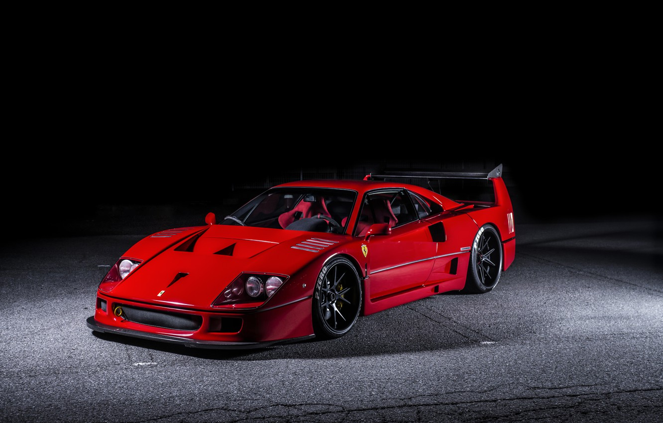 Photo wallpaper Ferrari, F40, Hyperforged, AutoPlazaDank