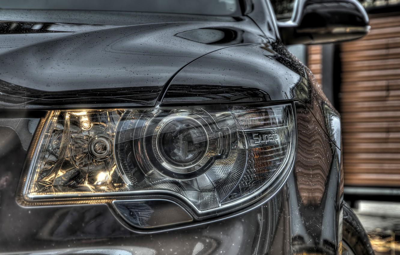 Photo wallpaper macro, Auto, headlight, Skoda, Superb