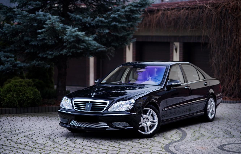 Photo wallpaper Mercedes, Classic, Black, Legend, S500, W220