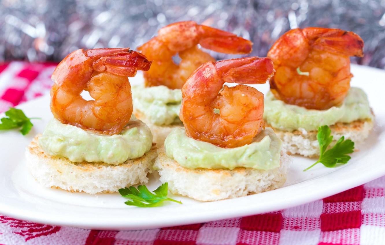 Photo wallpaper sauce, shrimp, appetizer