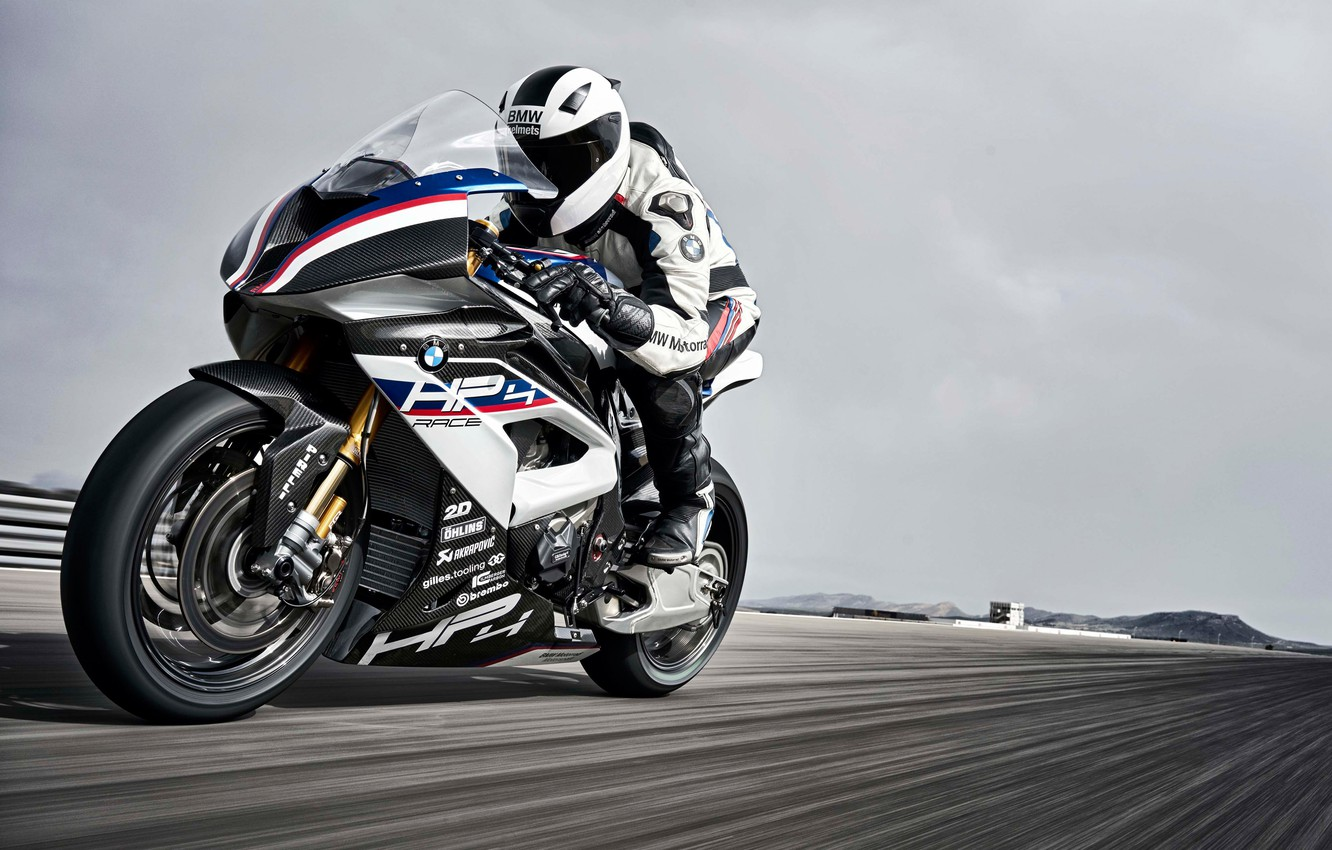 Photo wallpaper BMW, 2017, HP4, Race Bike