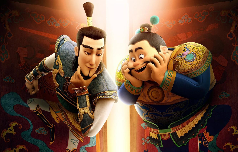 Photo wallpaper Edward Norton, armor, asian, brothers, god, chinese, oriental, asiatic, guardian, Dan Fogler, animated movie animated …
