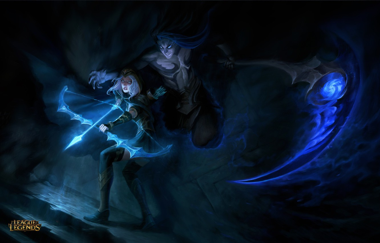 Photo wallpaper the game, Archer, fantasy, art, the plot, assassin, League of Legends, location, Elena Bespalova, at …