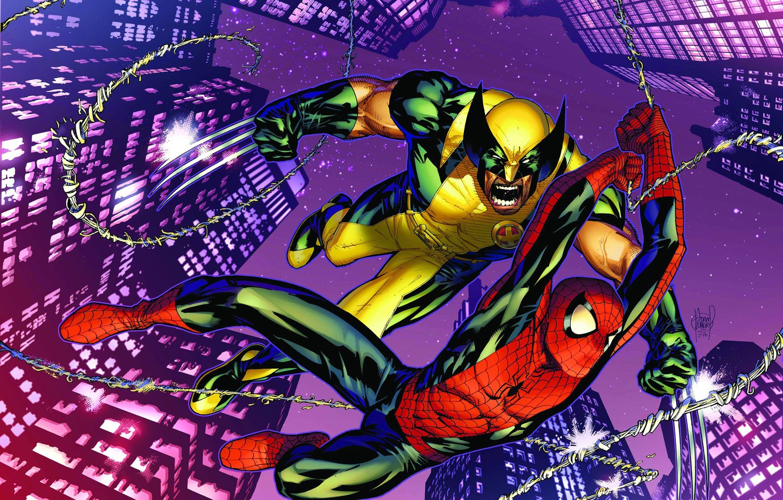 Wallpaper Skyscrapers Wolverine Wolverine Comic Marvel Comics