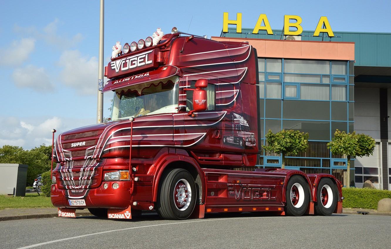 Photo wallpaper Scania, T 580, bird