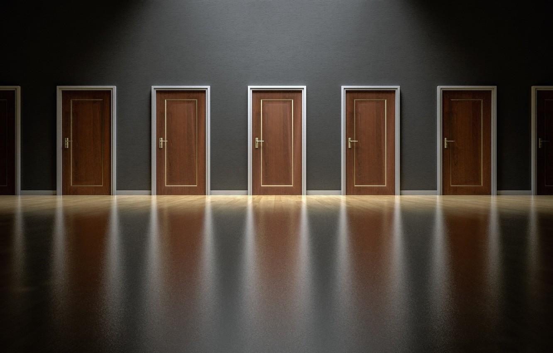 Photo wallpaper door, corridor, office