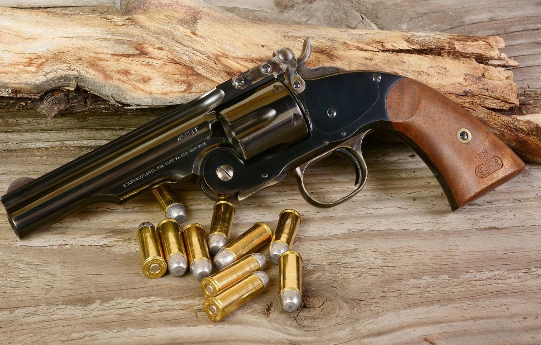 Photo wallpaper weapons, revolver, weapon, Revolver, Smith & Wesson Schofield Model 3, Schofield Model 3