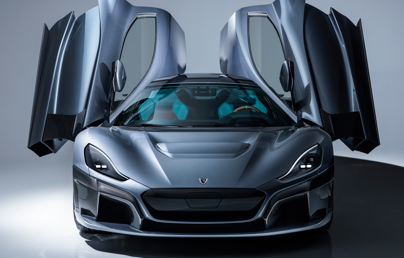 Photo wallpaper supercar, front view, 2018, Rimac, electric car, C-Two