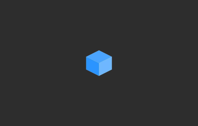 Photo wallpaper cube, cube, face, edge
