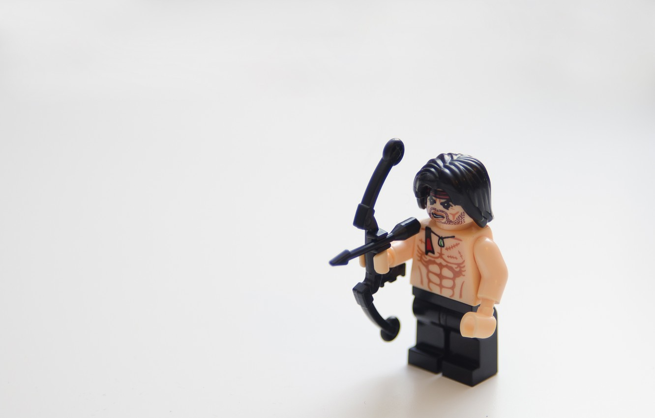 Photo wallpaper the film, lego, toy, LEGO, movie, rambo, Rambo, stallone, first blood