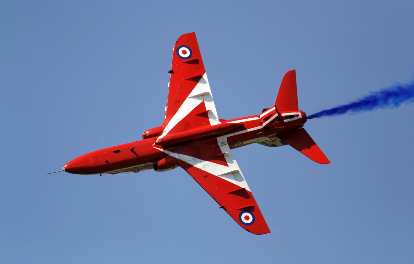 Photo wallpaper Red Arrows, Hawk T1A, light attack, training aircraft