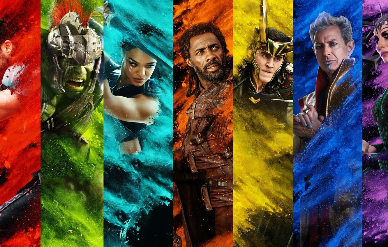 Photo wallpaper fiction, Hulk, Hulk, poster, characters, comic, Thor, Idris Elba, Idris Elba, Chris Hemsworth, MARVEL, Chris …