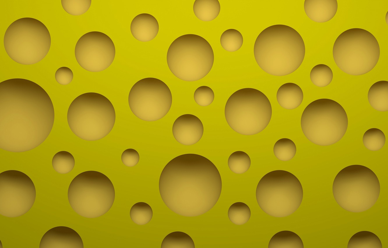 Photo wallpaper macro, food, round, cheese, ring, hole