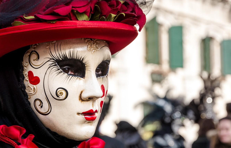 Photo wallpaper mask, Italy, Venice, carnival, Venice