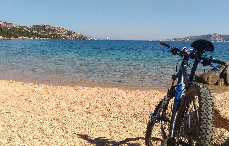 Photo wallpaper Nature, Beach, Sardinia, Mountain Bike