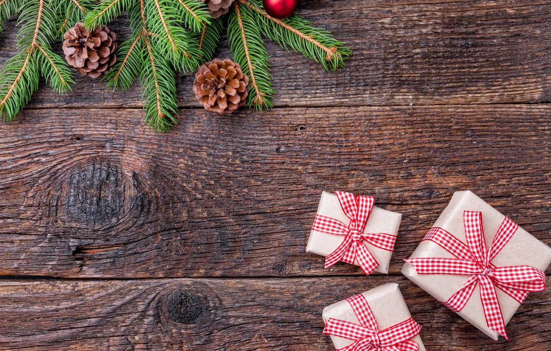 Photo wallpaper New Year, Christmas, merry christmas, christmas tree, gifts