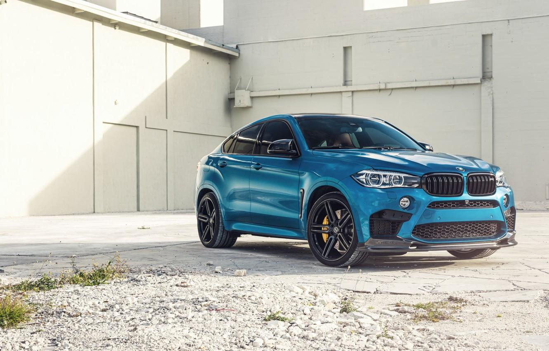 Photo wallpaper BMW, Blue, X6M, Sight, F86