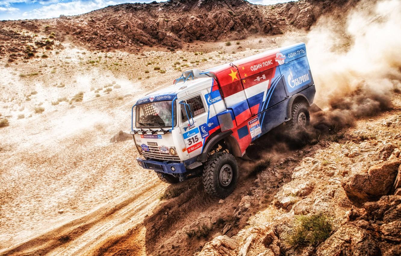 Photo wallpaper Sport, Speed, Truck, Race, Master, Russia, Kamaz, Rally, KAMAZ-master, Rally, KAMAZ, The roads, Master, 315, …