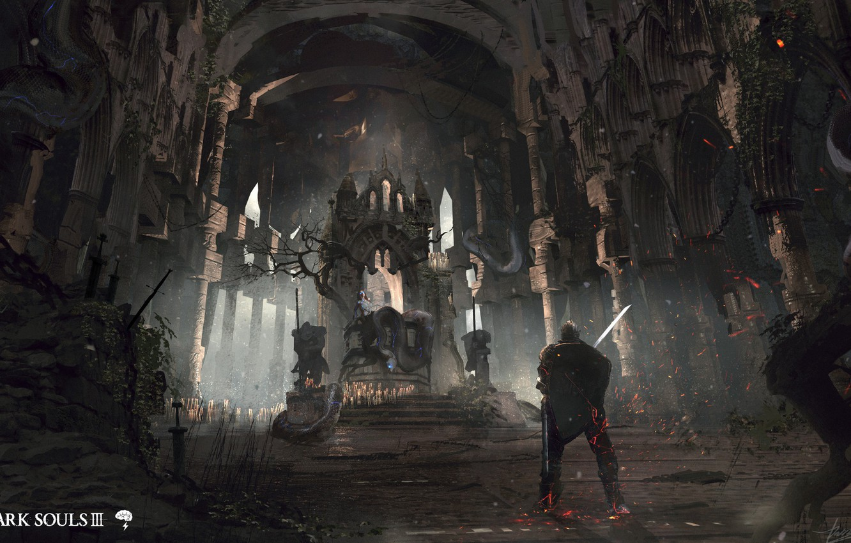 Wallpaper Warrior The Throne The Room Dark Souls Iii Welcome