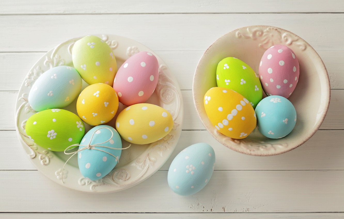 Photo wallpaper Easter, spring, Easter, eggs, Happy, pastel, the painted eggs