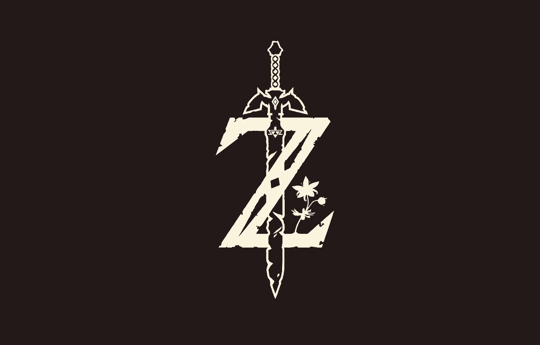 Photo wallpaper sword, game, minimalism, grey, ken, blade, Zelda, mahou, The Legend Of Zelda