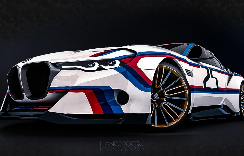 Photo wallpaper Concept, Auto, Figure, Machine, BMW, Art, Hommage, Bavarian, BMW 3.0 CSL, Hommage R, BMW 3.0, ...