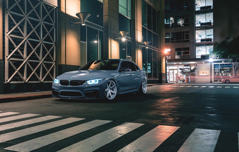 Photo wallpaper BMW, Car, Front, Wheels, Rohana, M3