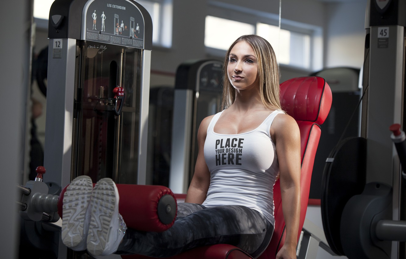 Photo wallpaper model, workout, fitness, gym