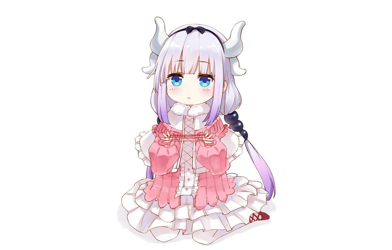 Wallpaper Kawaii Anime Dragon Cute Japanese Horn Miss