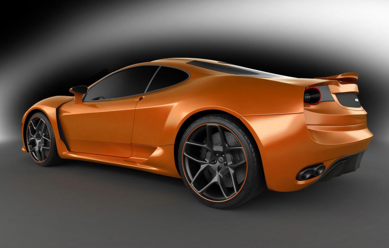 Photo wallpaper silver, Ferrari F430, ferrari, grey background, orange, the view from the side, Novitec Rosso, novitec-tulesto, …